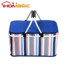 Hot promotional OEM custom cooler bag with metal handle