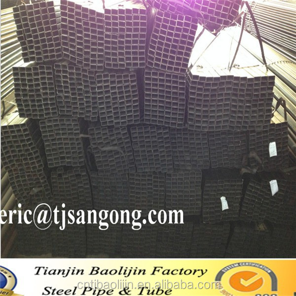A500 square pipe/annealing steel tube, black oblong elliptical tube, building construction materials,