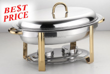 Popular cheap price buffet chafing dish oval stainless steel food warmer