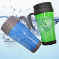 Custom thermo mug water bottle double wall plastic vacuum cup