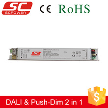 Slim led driver, DALI push dim 20W 40W 60W constant current led driver