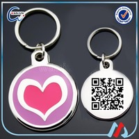 cheap personalized qr code dog tag