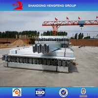 Steel barrier beam for highway guardrail used
