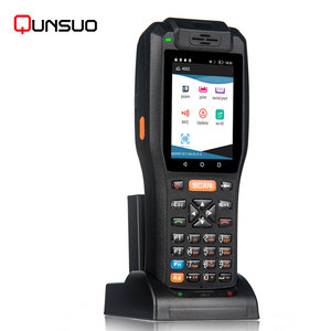 Rugged android PDA3505 Mobile fingerprints pda NFC reader with barcode scanner printer