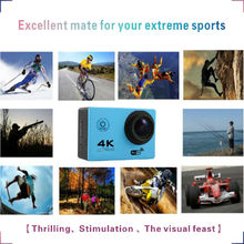 Wifi camera full HD underwater 30m waterproof with helmet protect wifi support 4K sports camera