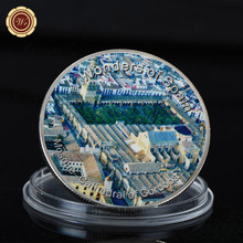 WR Art Crafts Famous Spain Building Series Challenge Silver Coin Mosque-Cathedral of Cordoba Commemorative Silver Plated Coin