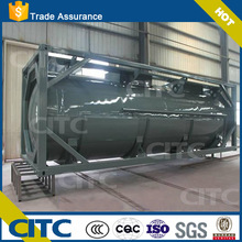 CITC carbon steel or stainless steel fuel transport 40ft iso tank container for sale