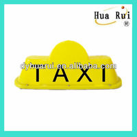 Little yellow magnetic taxi top lights