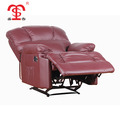 Living room synthetic leather reclining sofa with leather cover