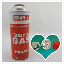 Aerosol can for portable gas camping stove