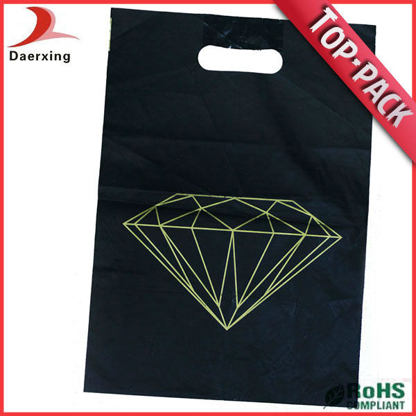 Recycled black plastic bags for garbage or plant