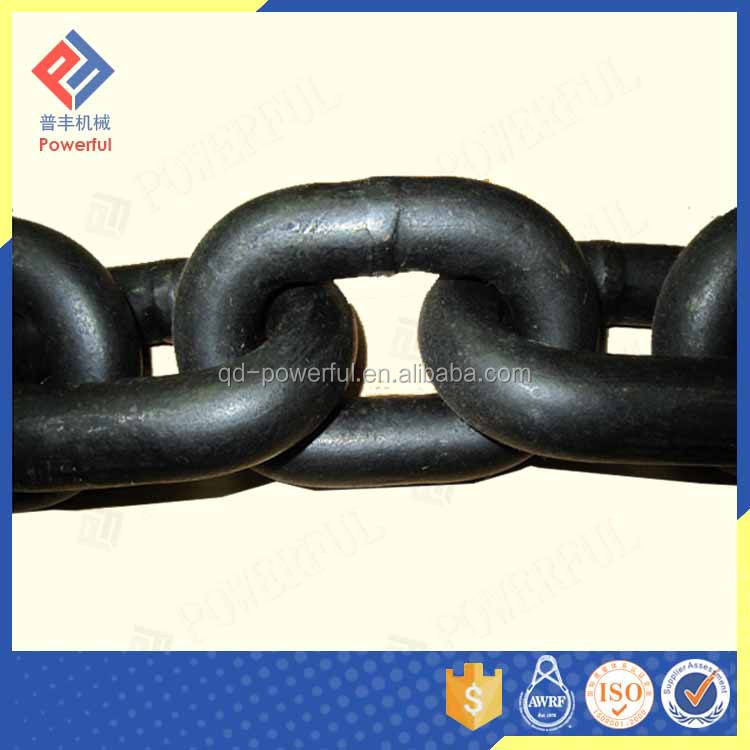 High Professional 2mm DIN EN818-2 Black Painted Alloy Steel Chain Long Link Chain