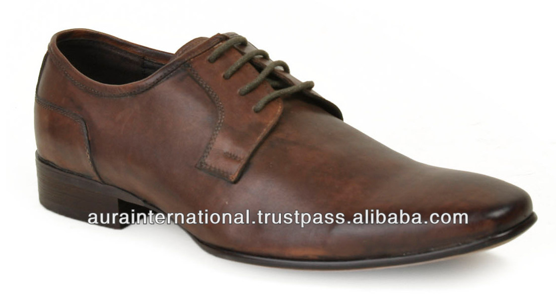 Formal Brown Leather Shoes - Paypal Accepted
