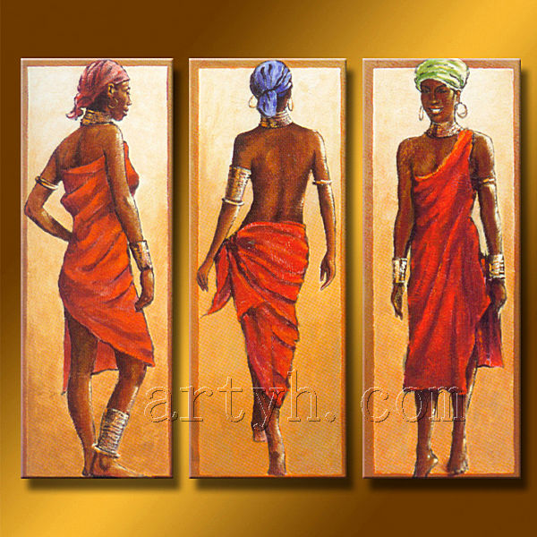 Hot Sell Canvas African Figure Painting For Decor