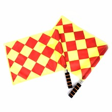 Custom handheld football soccer referee lineman flags