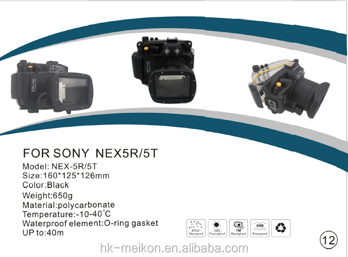 RX100 Meikon Camera waterproof case for Sony camera  RX100,Compatible with a wide range of underwater photo accessories