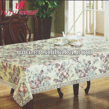 pvc non-woven flower design spandex table covers