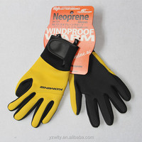 neoprene yellow diving gloves