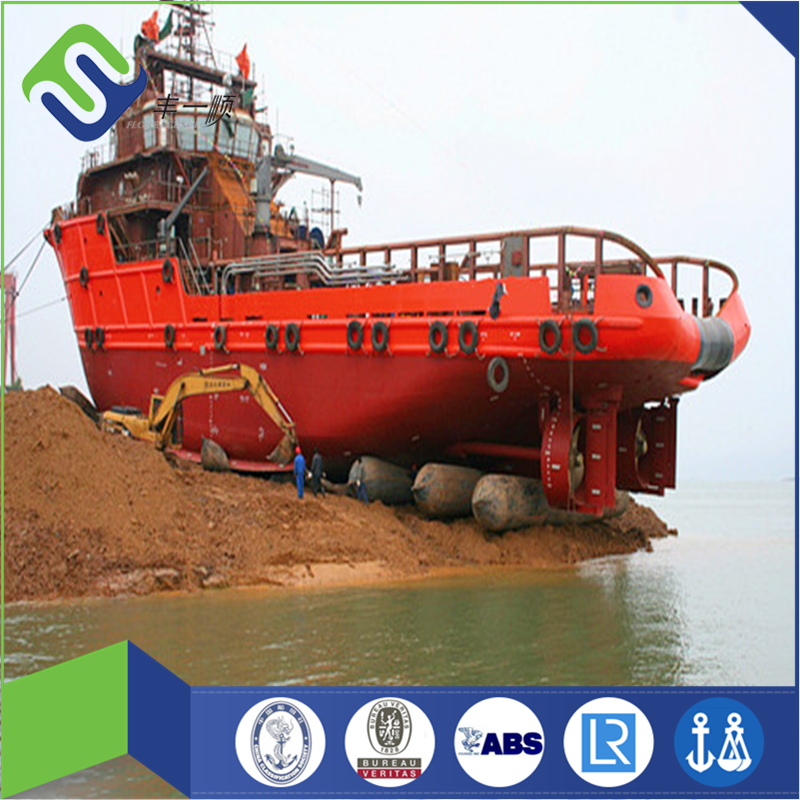 Floating underwater ship use marine rubber airbag