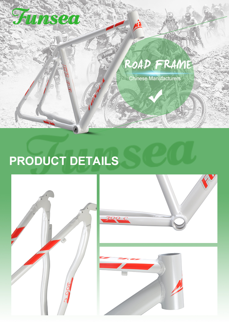 "Cheapest price high quality alloy #6061 lightweight 700c""*19"" OEM ODM custom logo road bicycle frame racing road bike frame"