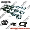 Painted Black Marine U1 U2 U3 Stud Or Studless Welded Open Link Anchor Chain For Ship With CCS ABS LR Certificate