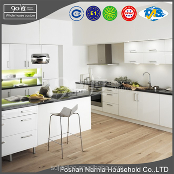 cheap price modular kitchen cabinet design high gloss kitchen cabinets and sink