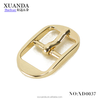 High quality Light gold mini retangle Metal Pin buckle pin belt buckles