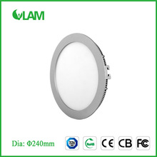 15W 240mm round dimmable led light panel recessed panel light
