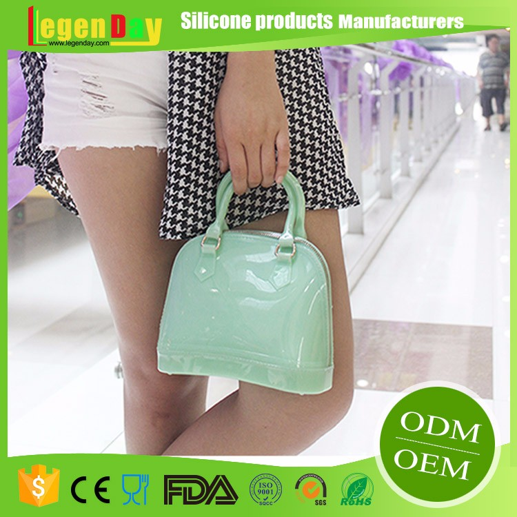 Wholesale FDA & LFGB rubber silicone handbags