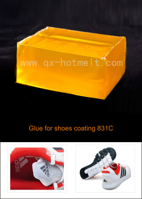 Hot melt glue for shoes making