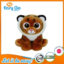 Factory Wholesale Big Plastic Oval Eyes Stuffed Mini Tiger Toys Plush Toys