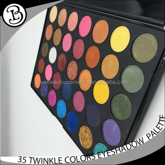 Cheap price oem make your own brand cosmetics eyeshadow palette