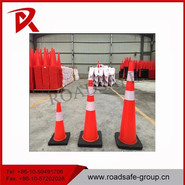 900mm Reflective PVC Traffic Safety Cones with Black Base