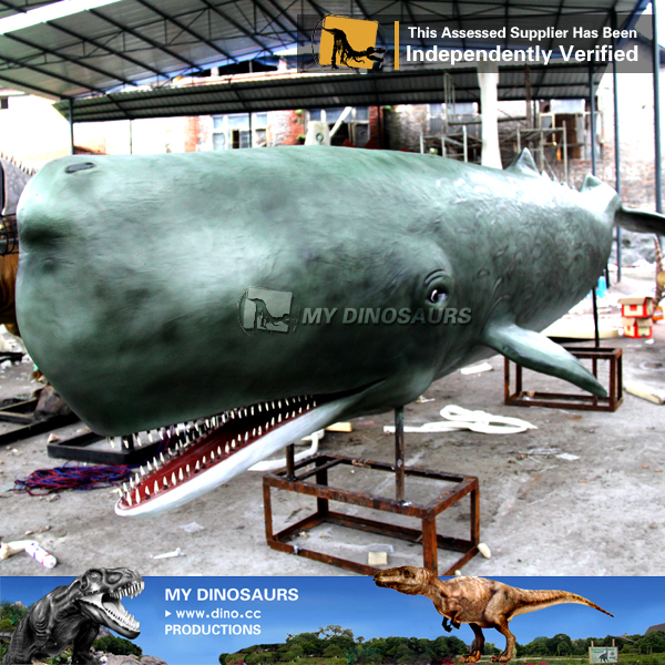 MY Dino-M10 Aquarium fiberglass animal sculpture whale