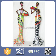 2016 Kinsheng Wholesale Product Polyresin Black Woman Figurine