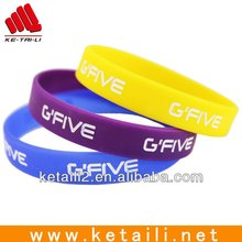 Cheap promotional debossed 100% food grade silicone bracelet