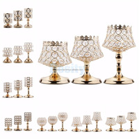 Bling Crystal Votive Tealight Candle Holders Wedding Centerpieces Candelabra