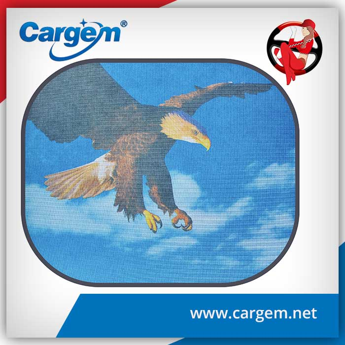 Cargem collapsible nylon fabric car sun visor covers