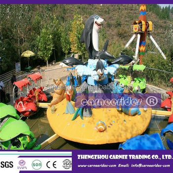 Park Cool Family Amusement Rides Rotating Shark Fighting Water Game Machine