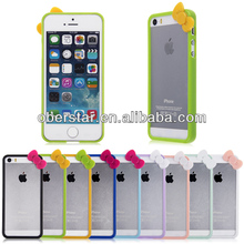 Fashion Bow Plastic Bumper Frame Case Cover Skin for Apple iPhone 5 5S