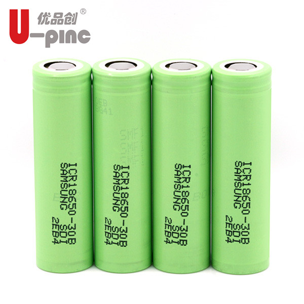 For samsung 18650 3000mah 3.7v icr18650-30a-b protected battery 18650-30B 3000mah 3.7/3.6v rechargeable lithium li ion battery