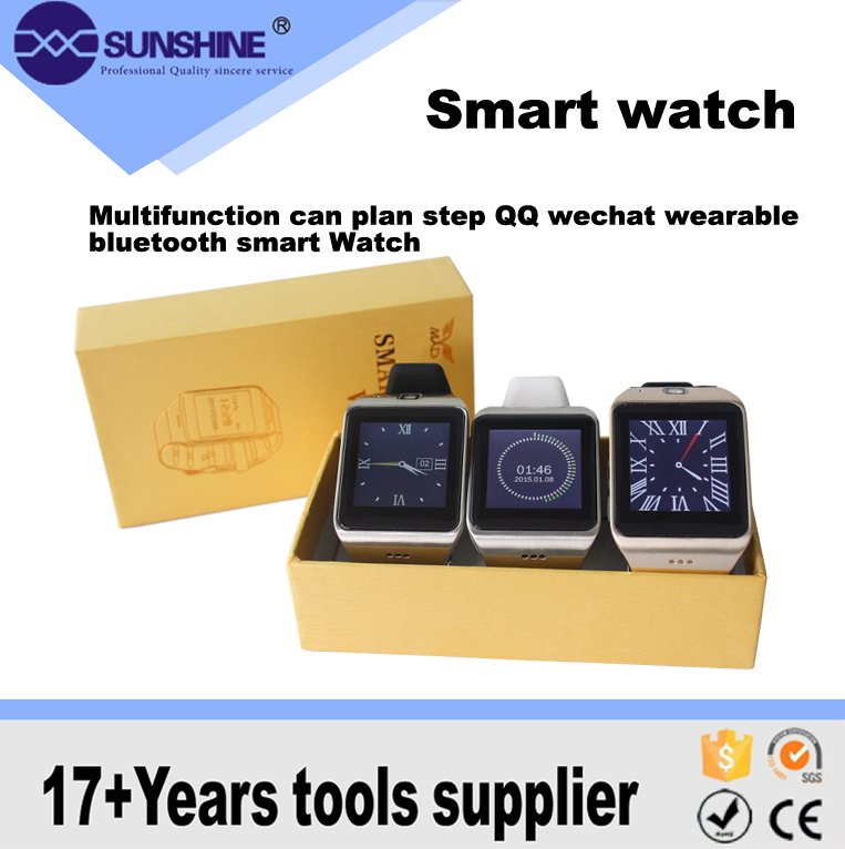 Multifunction can plan step QQ wechat wearable bluetooth smart Watch