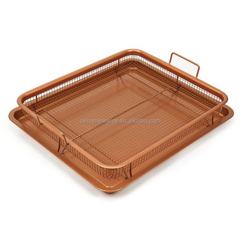 Baking tray with Crisping basket Copper Chef Copper Crisper