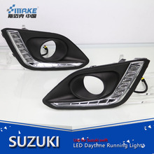Car styling original suzuki swift 2014-2016 led daytime light, led drl for swift with fog lamp cover