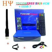 2017 New selling Tocomfree S929ACM/T satellite TV receiver support DVB-S2+ ISDBT for south America TV decoder