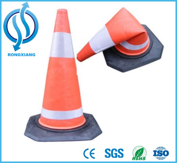 70 cm EVA Reflectorized Roadway Safety Cones Orange Traffic Cones with Reflecting Sleeve