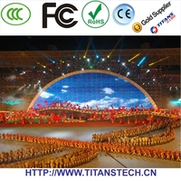 lowest price flexible LED vision stage curtain display with light weight, easy installation mobile led display