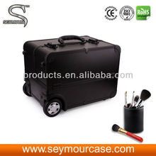 Aluminum Travel Jewelry Case Trolley Make Up Case