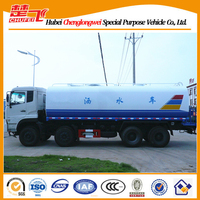 CE certification Dongfeng 8X4 water tanker truck 12--20 CBM water tank fire truck for sale