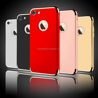 Promotional 3 In 1 Combo Slim Hard Plastic Phone Cases For iPhone 7 Plus 6 6S Plus Shockproof Armor Cover